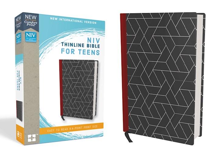 NIV Thinline Bible For Teens (Comfort Print)-Black Hardcover  | SHOPtheWORD