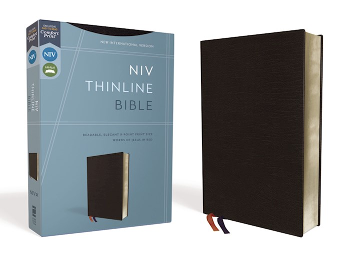 NIV Thinline Bible (Comfort Print)-Black Bonded Leather  | SHOPtheWORD