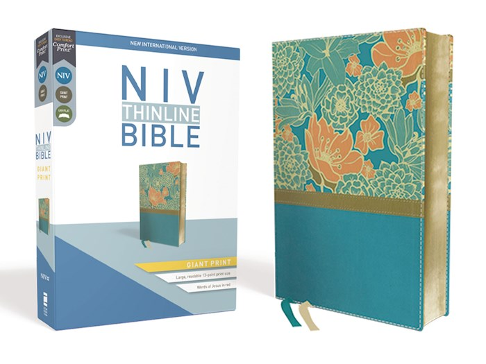 NIV Thinline Bible/Giant Print (Comfort Print)-Turquoise Leathersoft | SHOPtheWORD