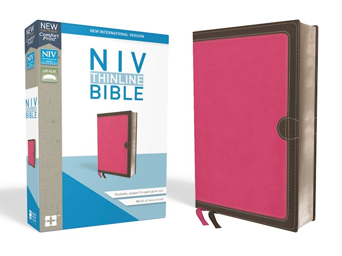 NIV Thinline Bible (Comfort Print)-Pink Leathersoft  | SHOPtheWORD
