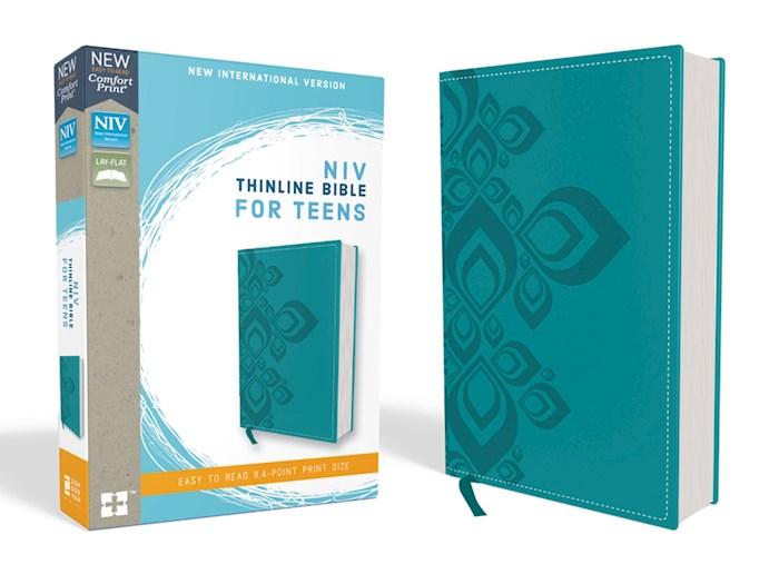 NIV Thinline Bible For Teens (Comfort Print)-Caribbean Blue Leathersoft  | SHOPtheWORD