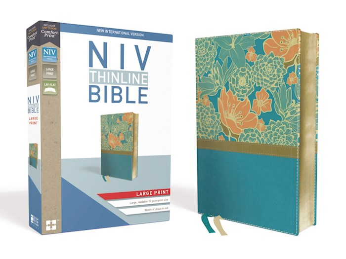NIV Thinline Bible/Large Print (Comfort Print)-Turquoise Leathersoft  | SHOPtheWORD
