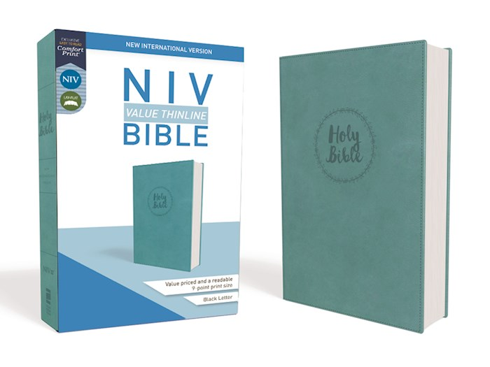 NIV Value Thinline Bible (Comfort Print)-Turquoise Leathersoft  | SHOPtheWORD