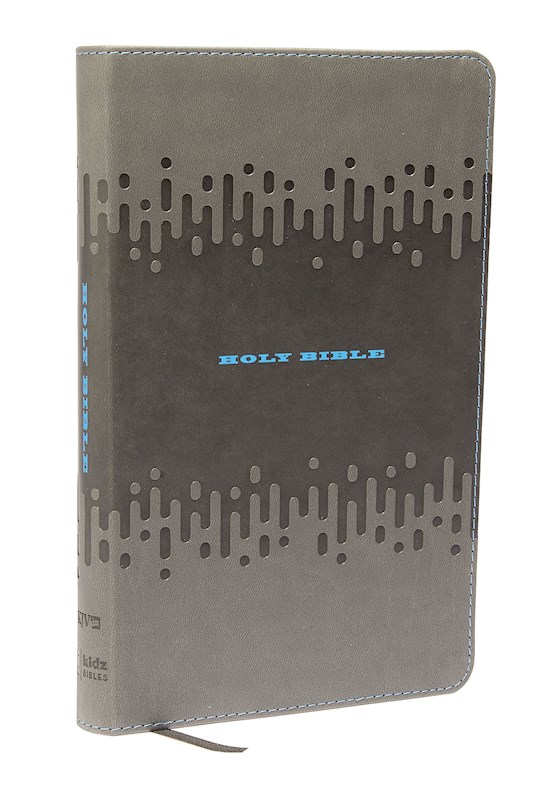 KJV Thinline Bible For Kids-Charcoal Leathersoft | SHOPtheWORD
