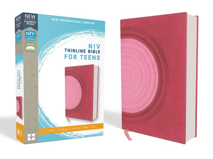 NIV Thinline Bible For Teens (Comfort Print)-Hot Pink/Pink Leathersoft   SHOPtheWORD