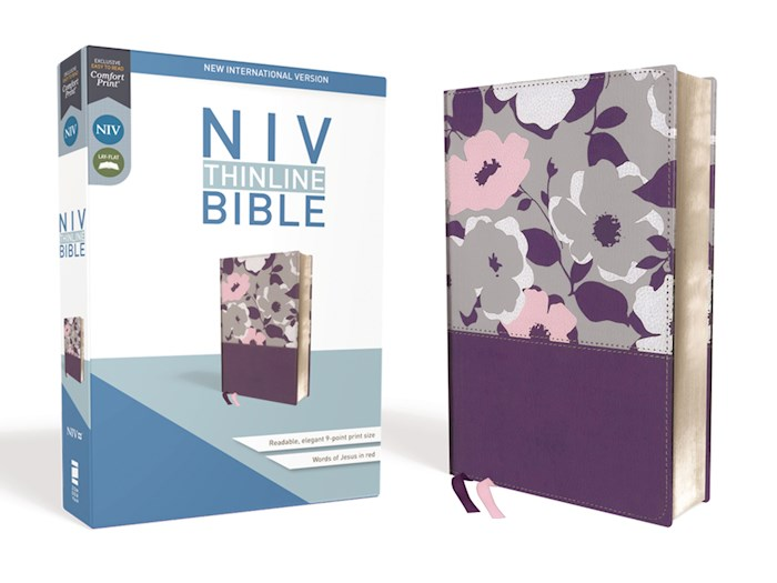 NIV Thinline Bible (Comfort Print)-Dark Orchid/Grape Leathersoft  | SHOPtheWORD