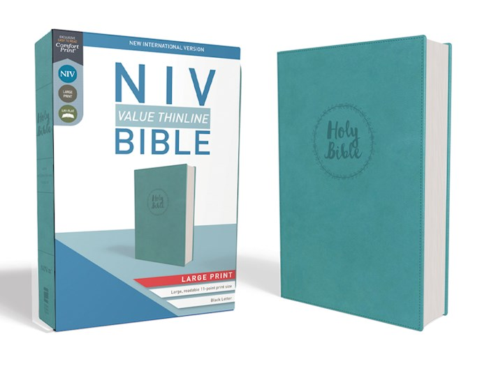 NIV Value Thinline Bible/Large Print (Comfort Print)-Turquoise Leathersoft  | SHOPtheWORD