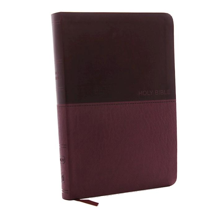 NKJV Value Thinline Bible/Large Print (Comfort Print)-Burgundy Leathersoft | SHOPtheWORD