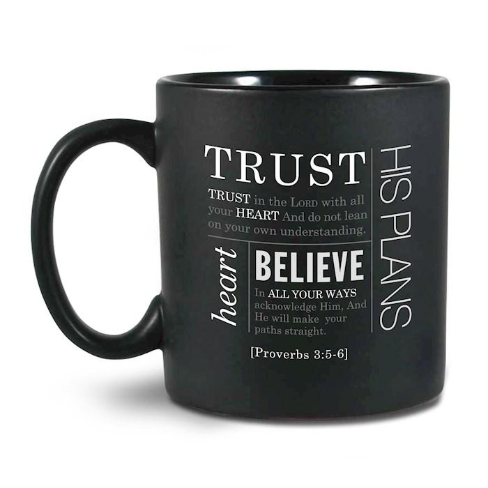 Mug-Simple Faith Series II: Trust-Black (#18843) | SHOPtheWORD