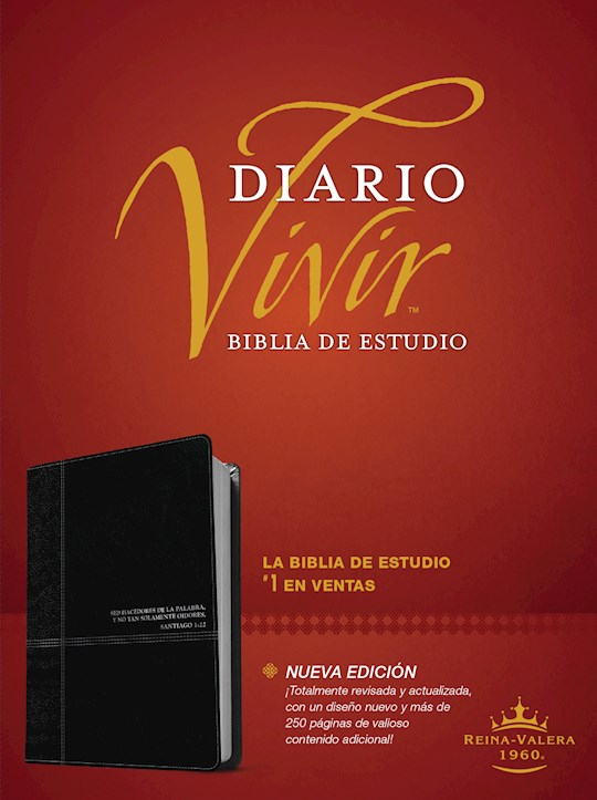 Span-RVR 1960 Life Application Study Bible (Biblia de Estudio del Diario Vivir)-Black LeatherLike Indexed | SHOPtheWORD