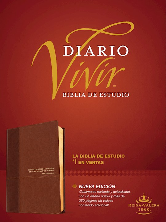 Span-RVR 1960 Life Application Study Bible (Biblia de Estudio del Diario Vivir)-Brown/Tan LeatherLike  | SHOPtheWORD