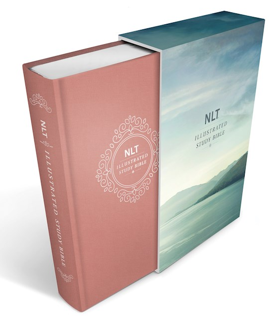 NLT Illustrated Study Bible-Blush Rose Deluxe Linen Hardcover | SHOPtheWORD
