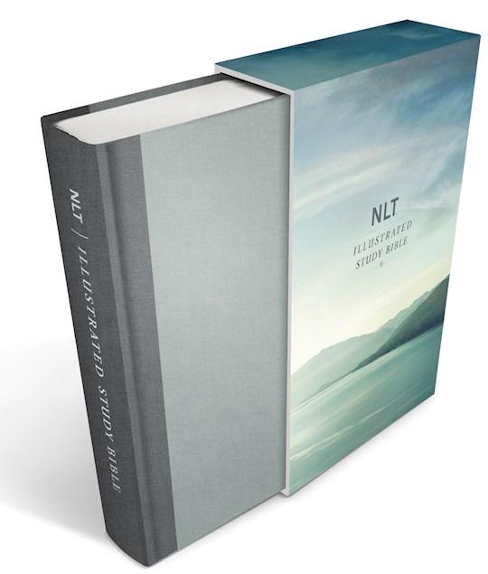 NLT Illustrated Study Bible-Slate Grey Deluxe Linen Hardcover | SHOPtheWORD