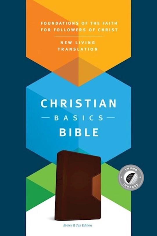 NLT Christian Basics Bible-Brown/Tan TuTone Indexed | SHOPtheWORD