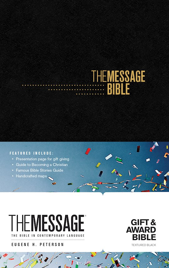 The Message Gift And Award Bible-Black Softcover  | SHOPtheWORD