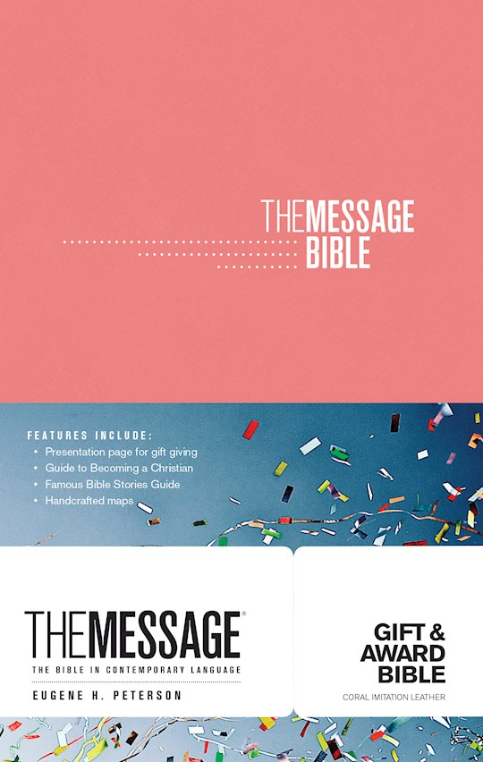 Message Gift And Award Bible-Coral Softcover | SHOPtheWORD