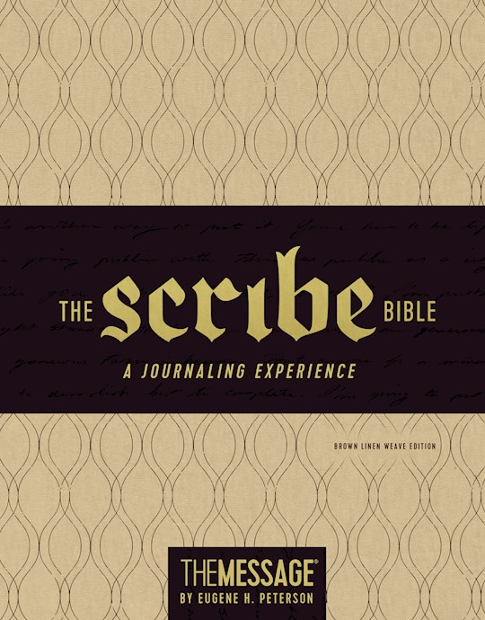 The Scribe Bible Featuring The Message-Brown Linen Weave LeatherLook | SHOPtheWORD