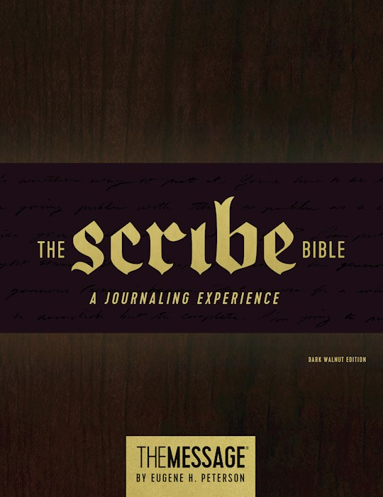 The Scribe Bible Featuring The Message-Dark Walnut Hardcover | SHOPtheWORD