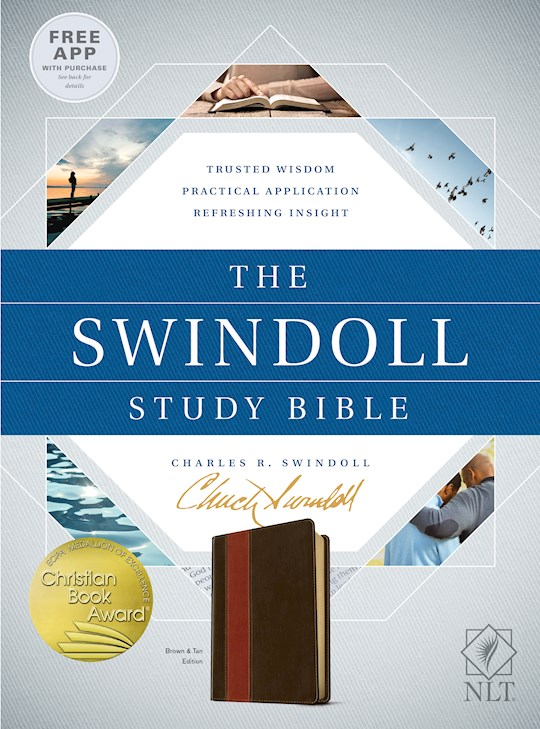 NLT Swindoll Study Bible-Brown/Tan TuTone | SHOPtheWORD