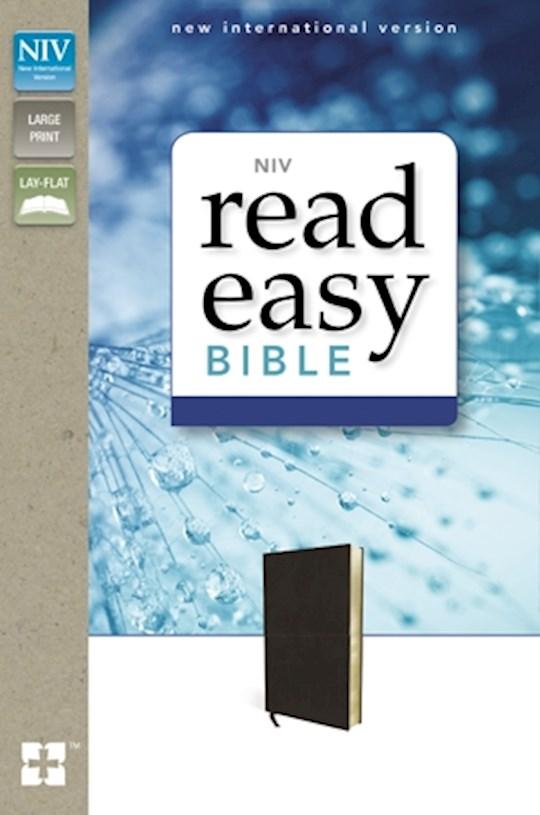 NIV ReadEasy Bible-Black Genuine Leather | SHOPtheWORD