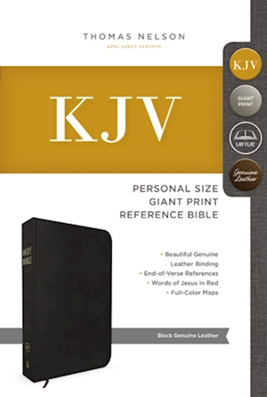 KJV Personal Size Giant Print Reference Bible-Black Genuine Leather | SHOPtheWORD
