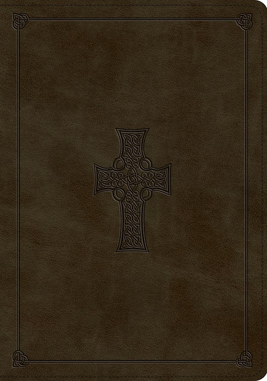 ESV Study Bible-Olive Celtic Cross Design TruTone | SHOPtheWORD
