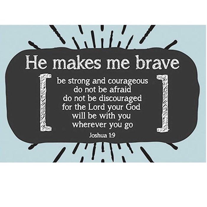 "Cards-Pass It On-Makes Me Brave (3"" x 2"") (Pack Of 25) 