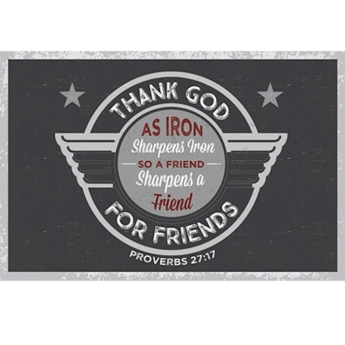 "Cards-Pass It On-Thank God For Friends (3"" x 2"") (Pack Of 25)  