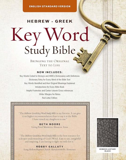 ESV Hebrew-Greek Key Word Study Bible-Black Bonded Leather   SHOPtheWORD