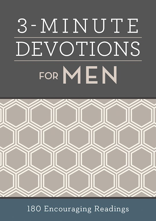 3-Minute Devotions For Men: 180 Encouraging Readings by Barbour | SHOPtheWORD