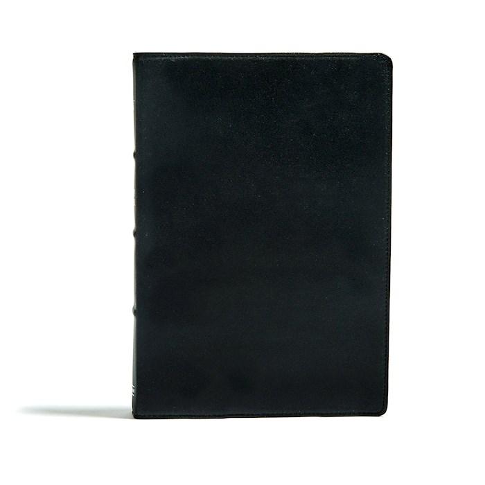 KJV Large Print Ultrathin Reference Bible-Premium Black Genuine Leather | SHOPtheWORD