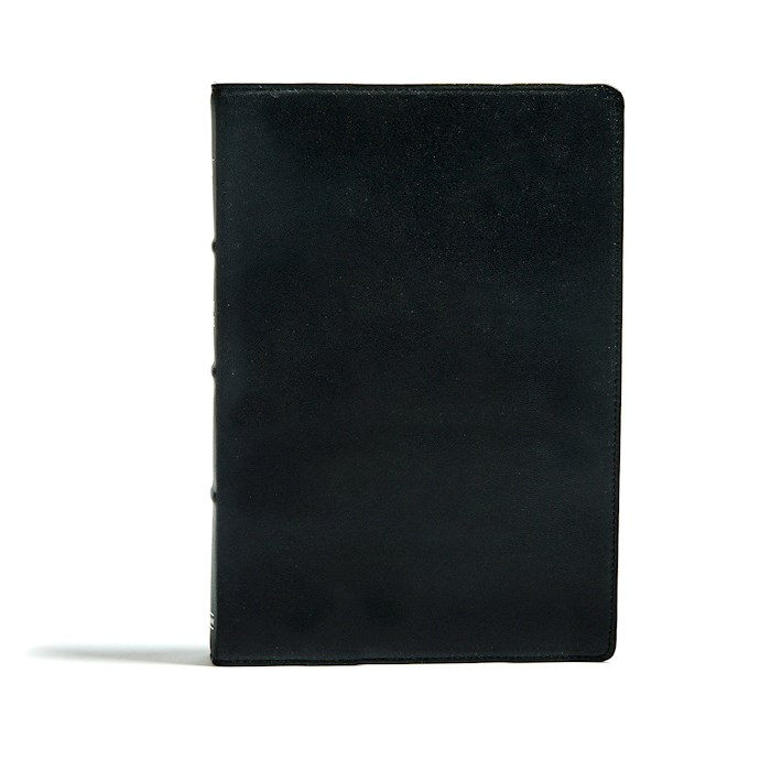 KJV Large Print Ultrathin Reference Bible-Premium Black Genuine Leather Indexed | SHOPtheWORD