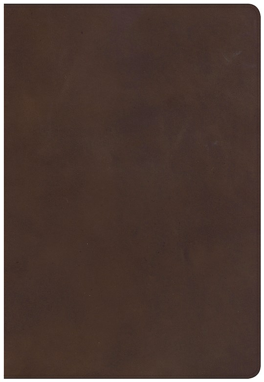 NKJV Super Giant Print Reference Bible-Brown Genuine Leather  | SHOPtheWORD
