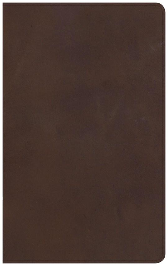 NKJV Ultrathin Reference Bible-Brown Genuine Leather | SHOPtheWORD