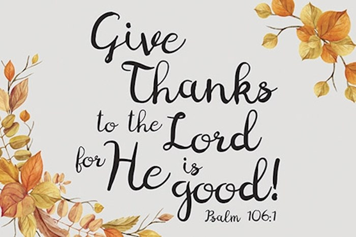 "Cards-Pass It On-Give Thanks To The Lord (3"" x 2"") (Pack Of 25) 