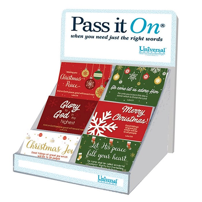 """Pass It On Christmas Display (7"""") 6 Asst (300 Pieces) 