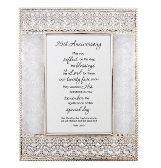 "Framed Art-Tabletop-25th Anniversary (7"" x 9"") 