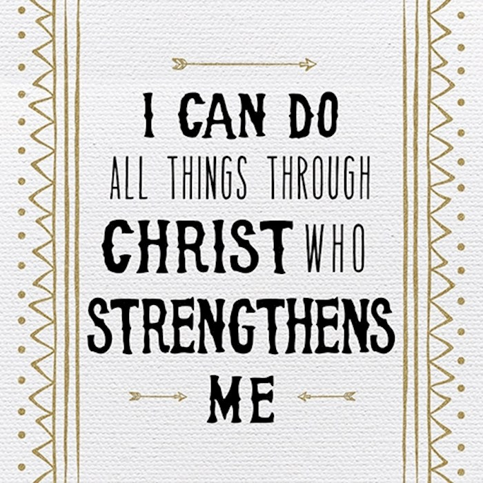"Plaque-Tabletop-I Can Do All Things (4"" x 4"") 