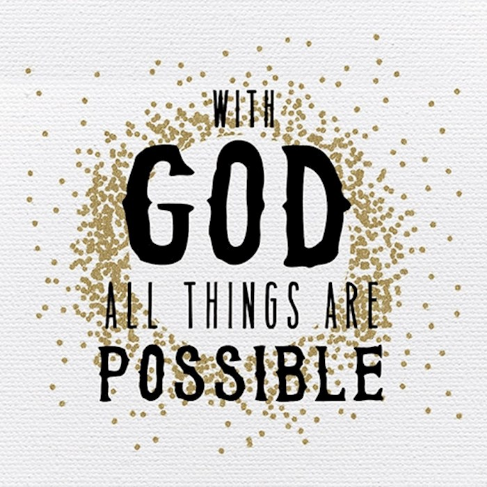 "Plaque-Tabletop-With God All Things Are Possible (4"" x 4"") 