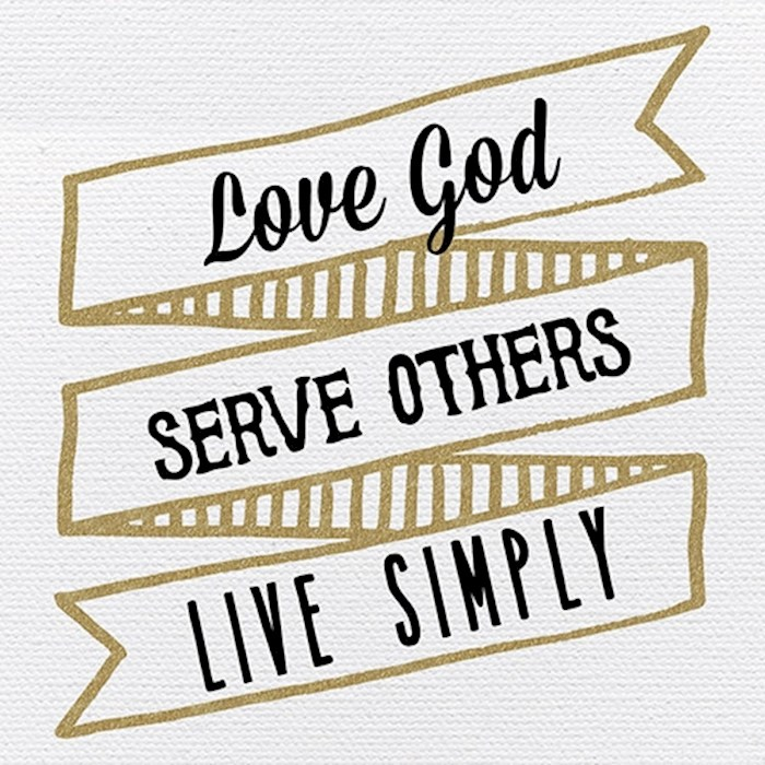 "Plaque-Tabletop-Love, Serve, Live (4"" x 4"") | SHOPtheWORD"