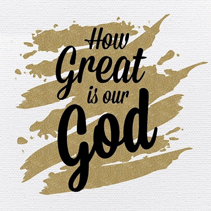 """Plaque-Tabletop-Great Is God (4"""" x 4"""") 