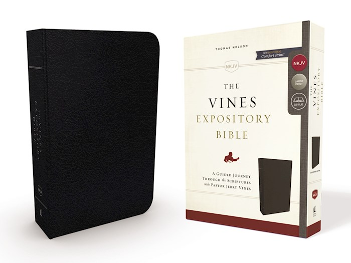 NKJV The Vines Expository Bible-Black Bonded Leather  | SHOPtheWORD