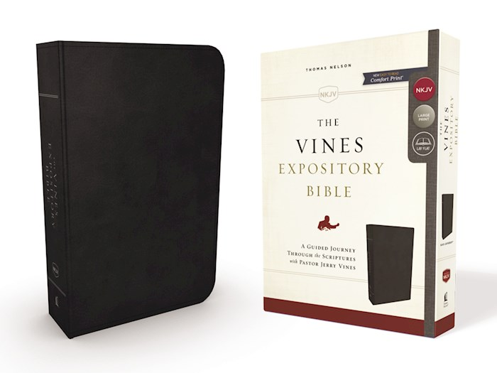 NKJV The Vines Expository Bible-Black Leathersoft  | SHOPtheWORD