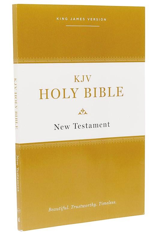 KJV Holy Bible New Testament (Comfort Print)-Softcover   SHOPtheWORD