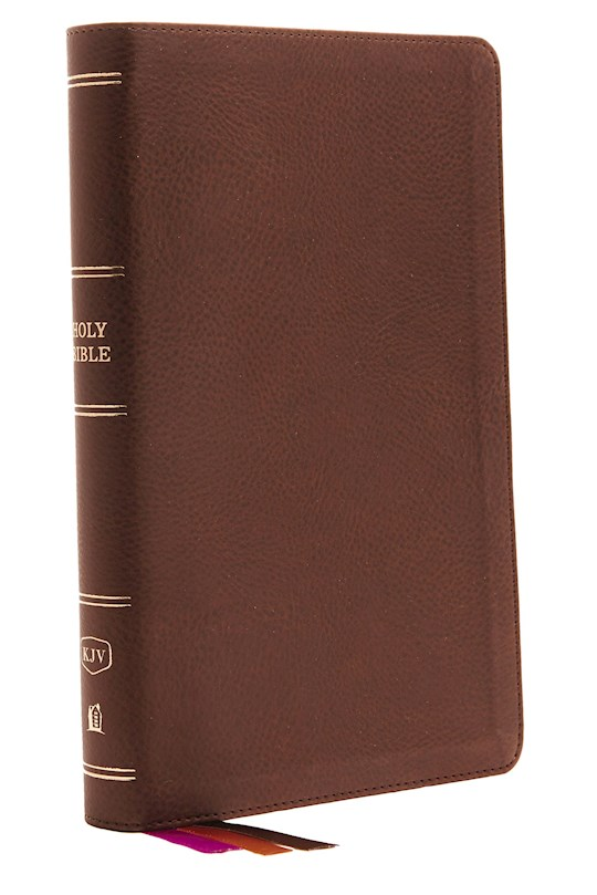KJV Minister's Bible (Comfort Print)-Brown Leathersoft  | SHOPtheWORD