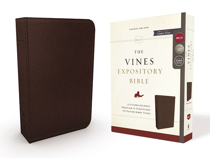 NKJV The Vines Expository Bible-Brown Leathersoft  | SHOPtheWORD