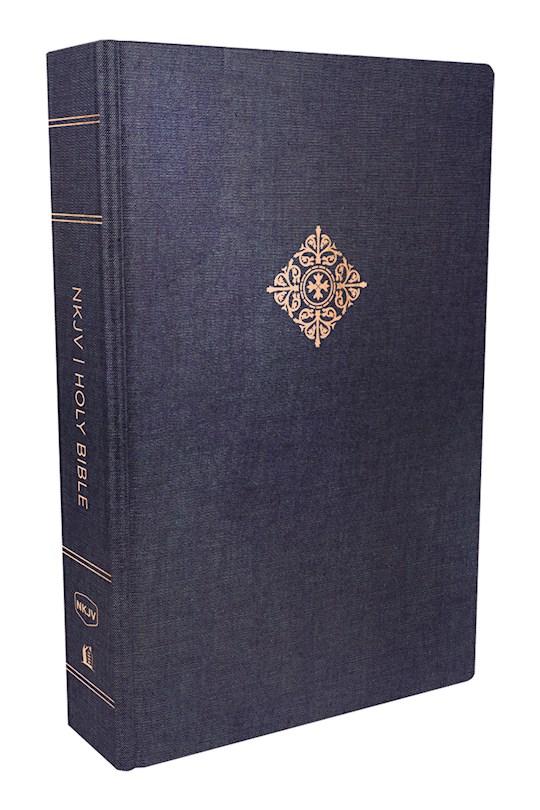 NKJV Deluxe Reader's Bible-Navy Cloth Over Board | SHOPtheWORD