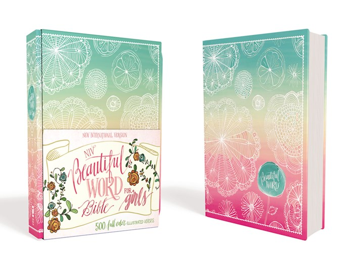 NIV Beautiful Word Bible For Girls (Full Color)-Floral Hardcover (Not Available-Out Of Print) | SHOPtheWORD