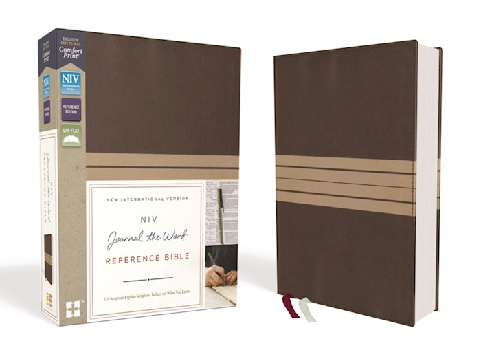 NIV Journal The Word Reference Bible-Brown/Tan Leathersoft   SHOPtheWORD