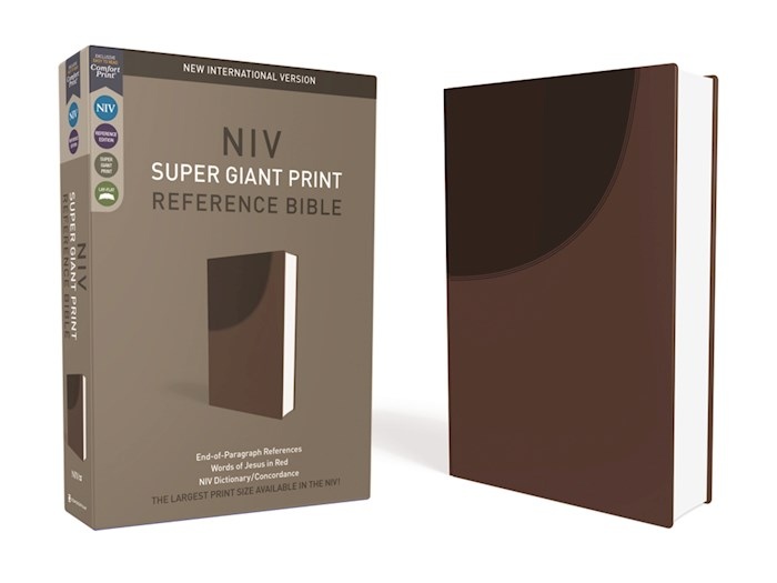NIV Super Giant Print Reference Bible-Chocolate Leathersoft | SHOPtheWORD